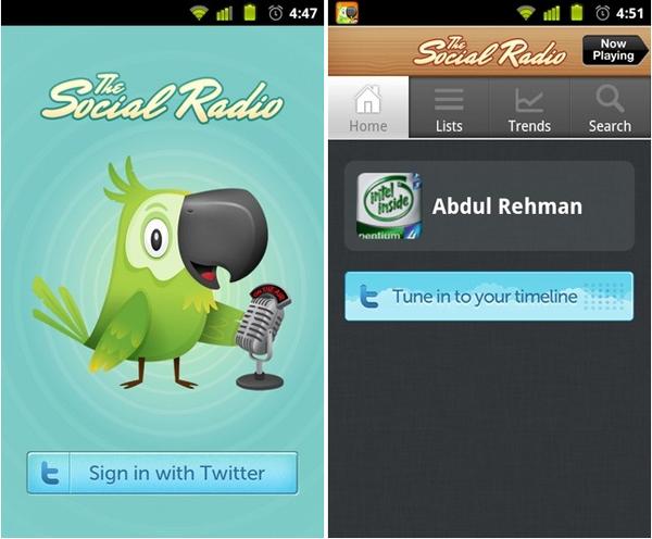 The Social Radio, escuchar los mensajes de las redes sociales en el móvil