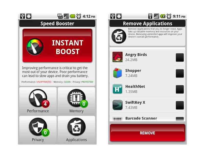 Speed Booster, aplicación para Android que optimiza el rendimiento del móvil